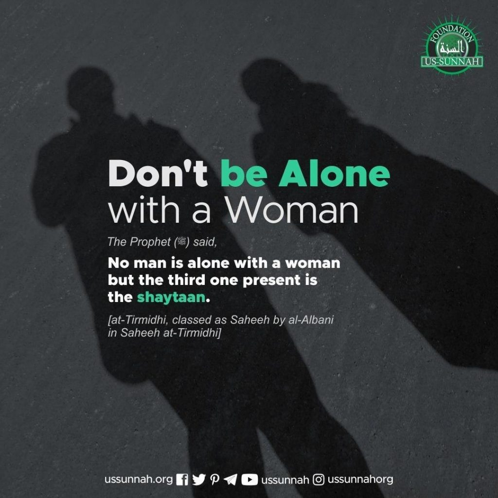 alone with woman