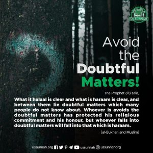 avoid doubtful matters