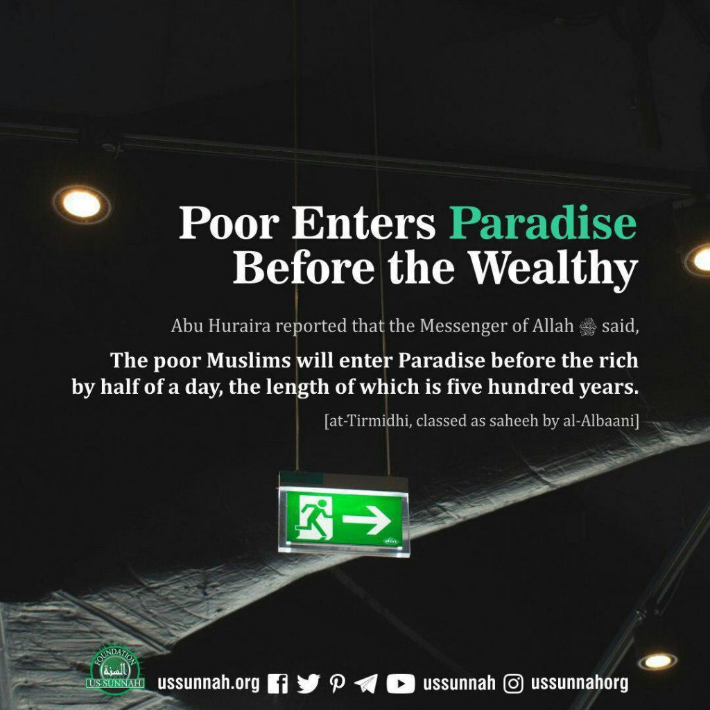 the poor before the rich