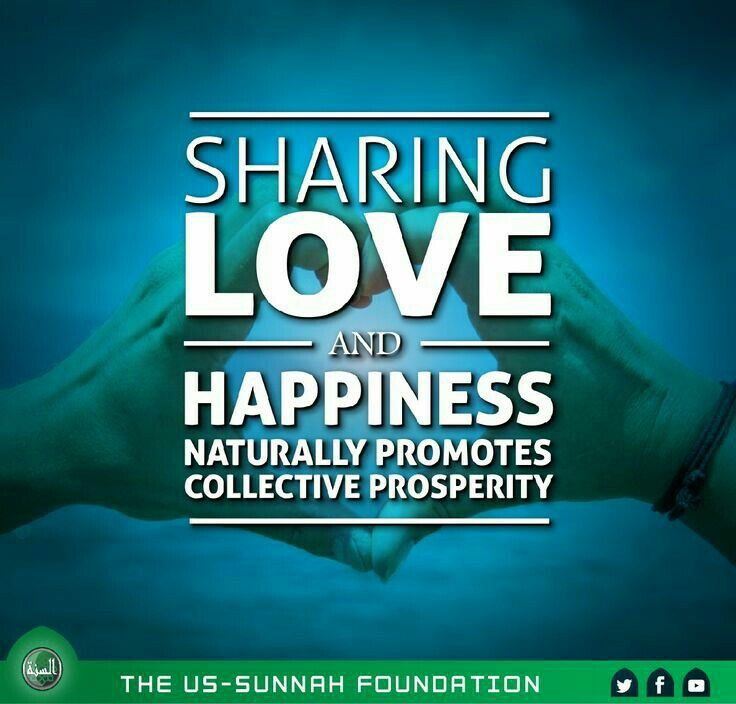 sharing love and happiness