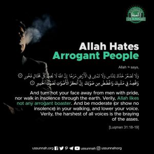 allah hates arrogant people