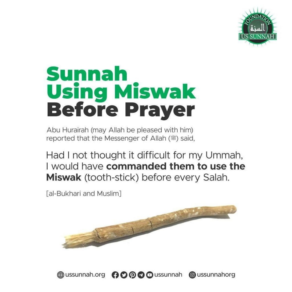 using miswak before salah