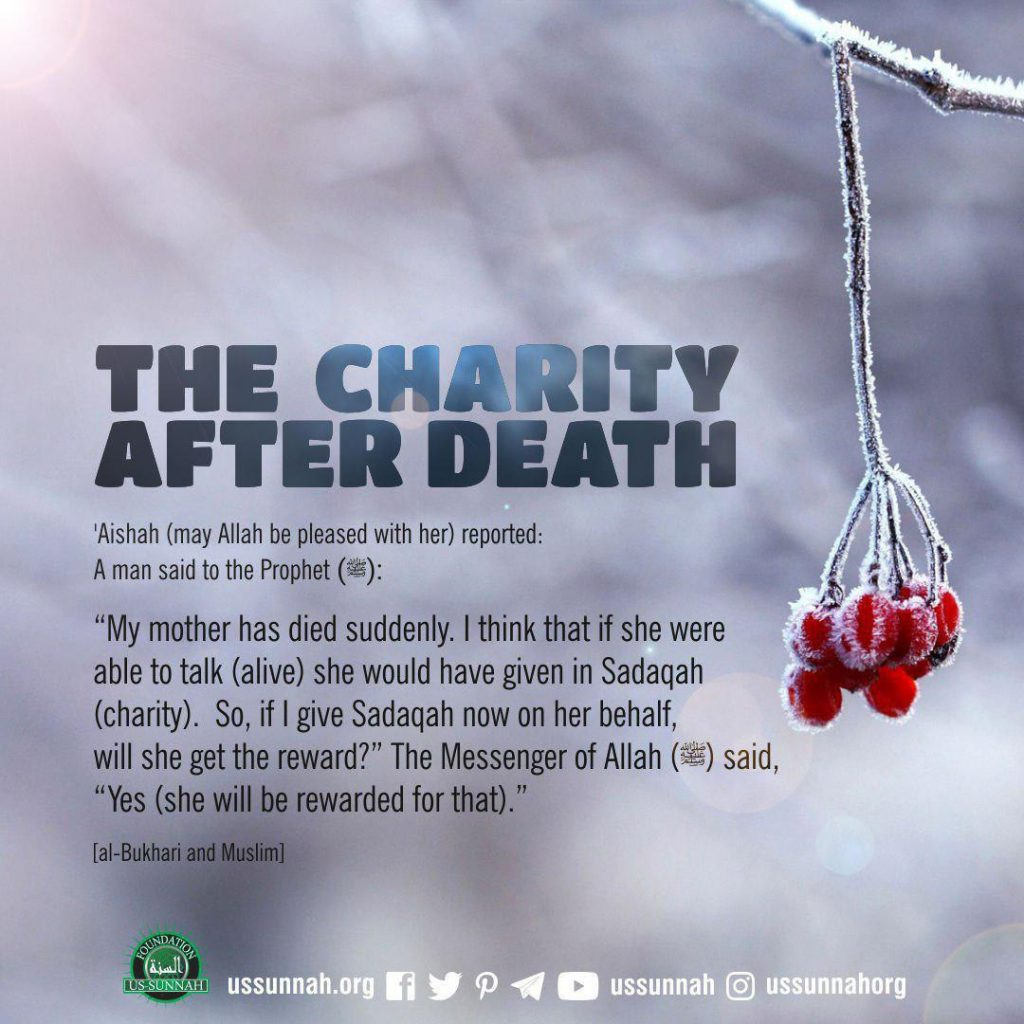 charity after death