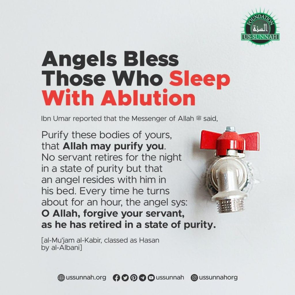 sleep with ablution
