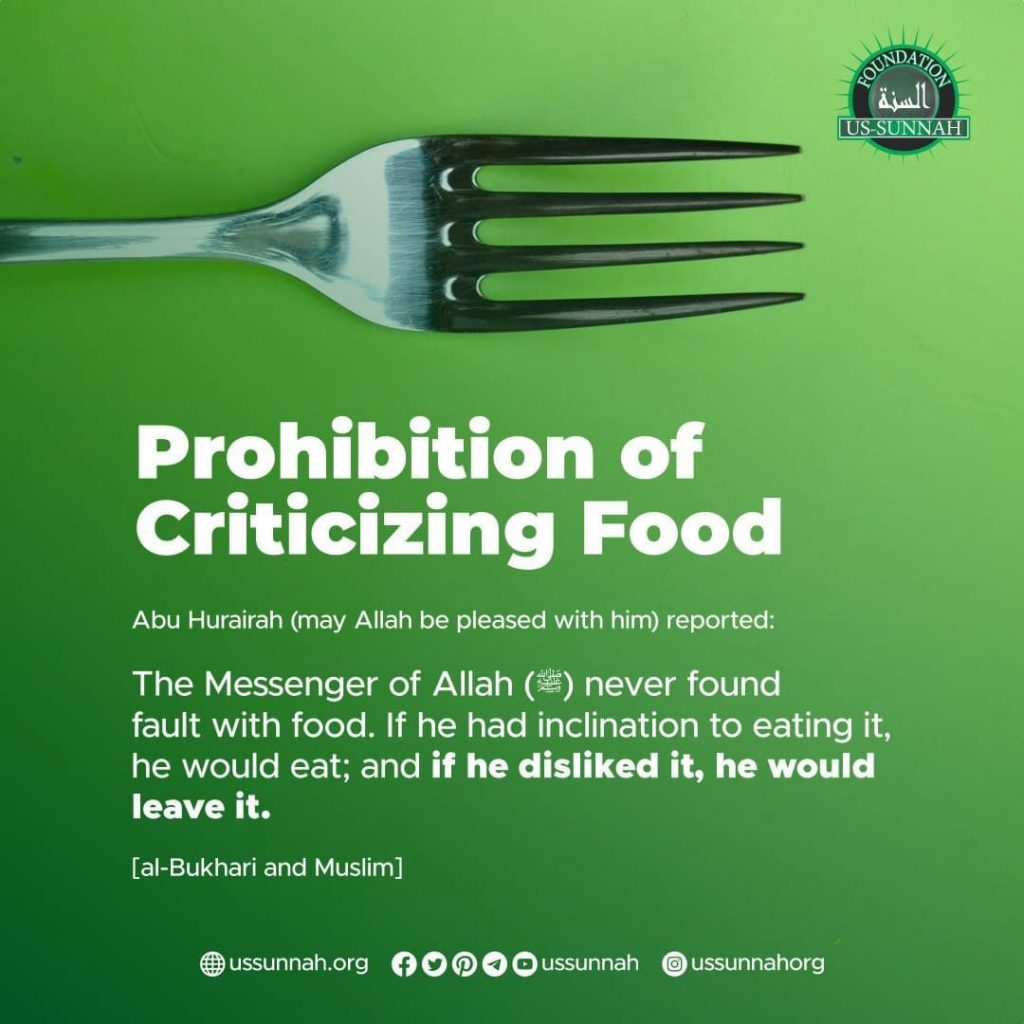 Please, Don't Criticize The Food
